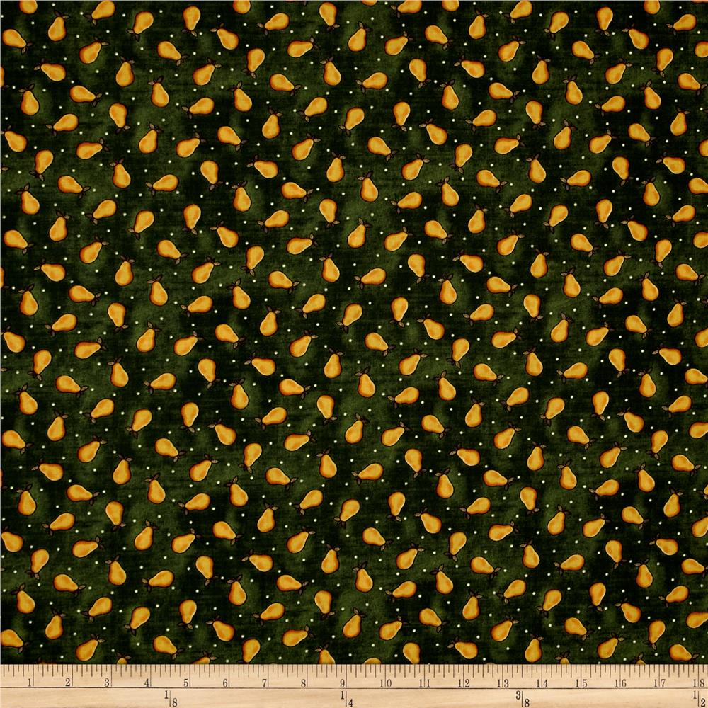 Folk Art Basics Pear Dot Dark Green