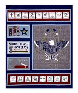 "Riley Blake Boy Scouts Of America Scout 36.5"" Panel Navy"