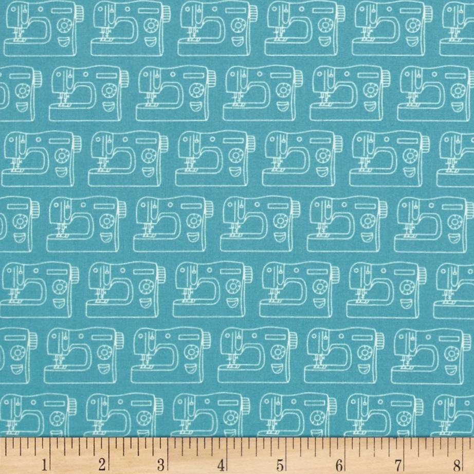 Sew simple sewing machines teal discount designer fabric for Cheap sewing fabric