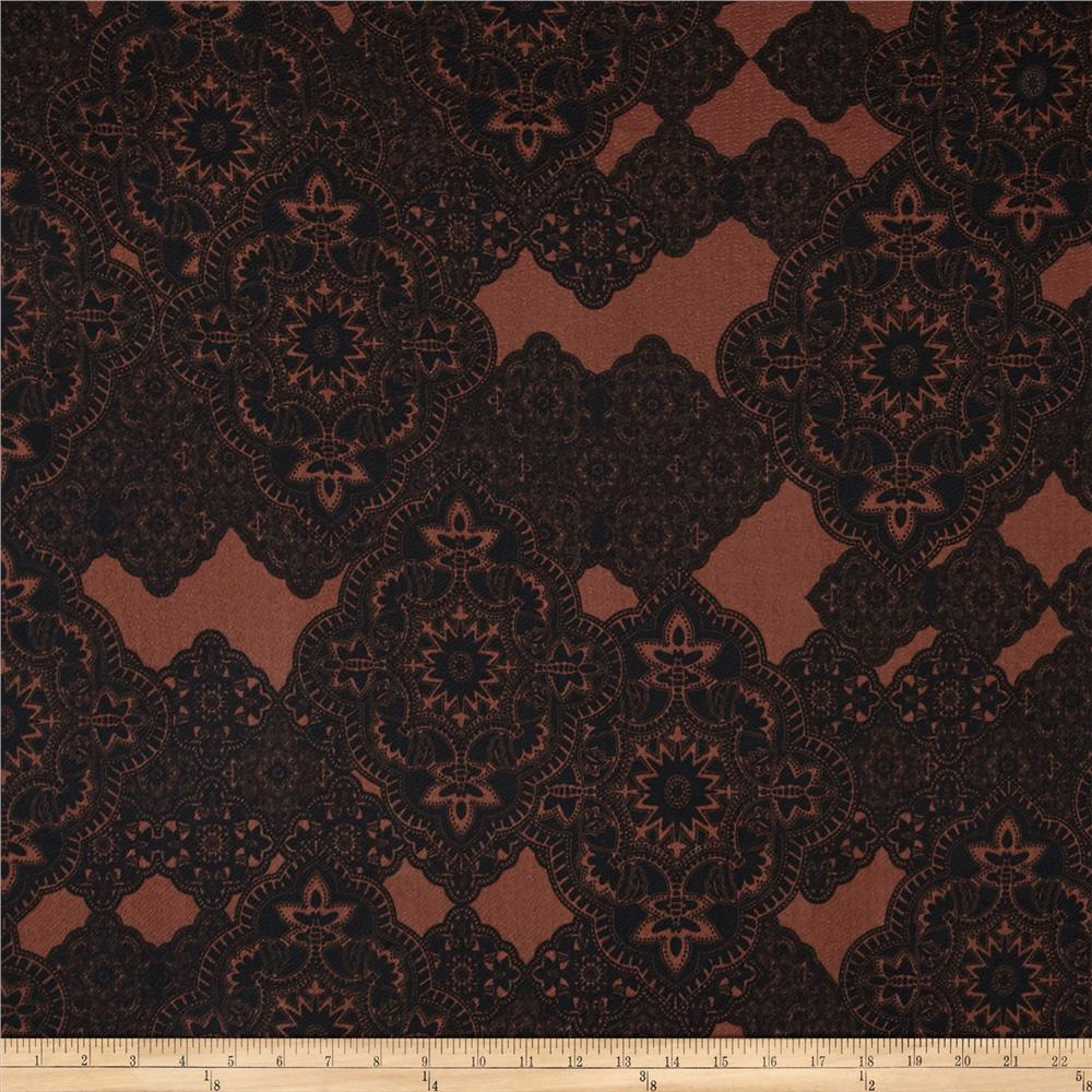 Liverpool Double Knit Paisley Lace Brown