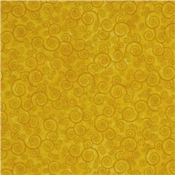 Harmony Flannel Curly Scroll Sunflower