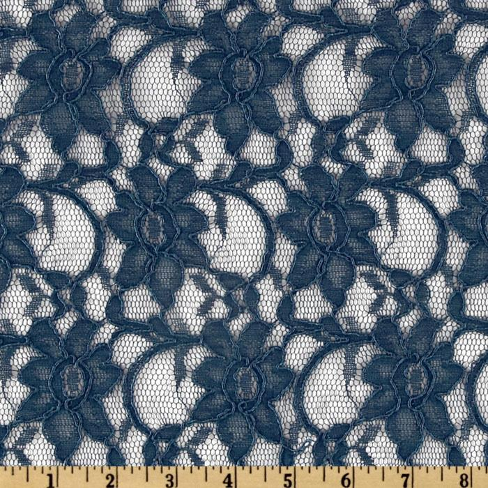 Xanna Floral Lace Fabric Navy