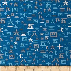 Riley Blake Year of the Ninja Numbers Blue
