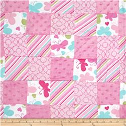 Butterfly Whimsy Pre-Sewn Patchwork Pink