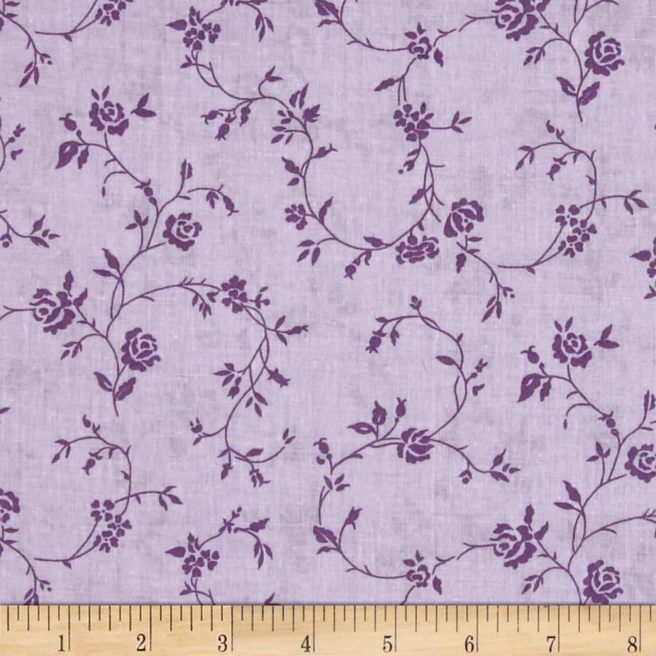 "108"" Wide Quilt Back Petite Fleur Purple"