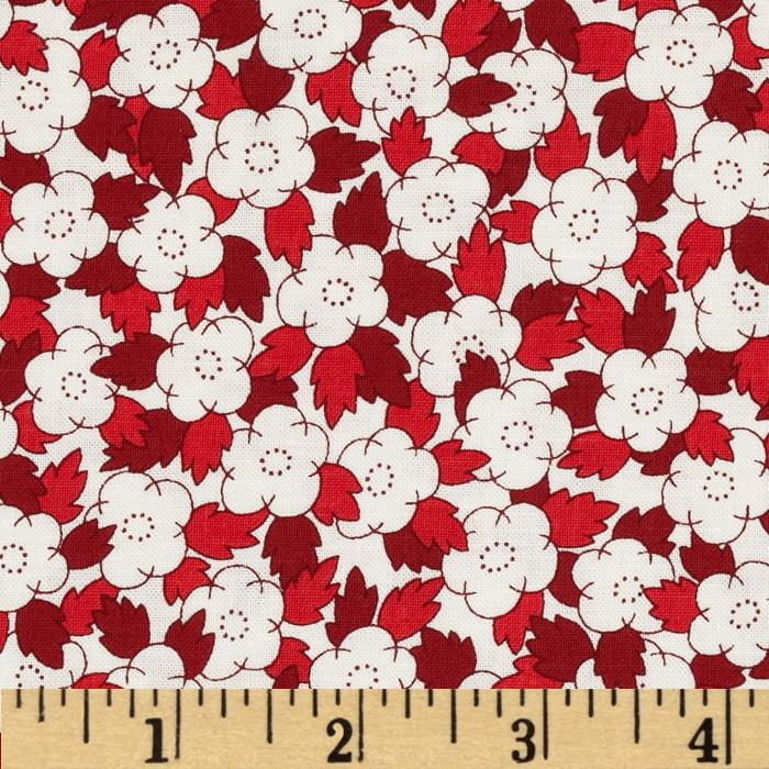 Aunt Grace In A Pickle Floral Bunches Red