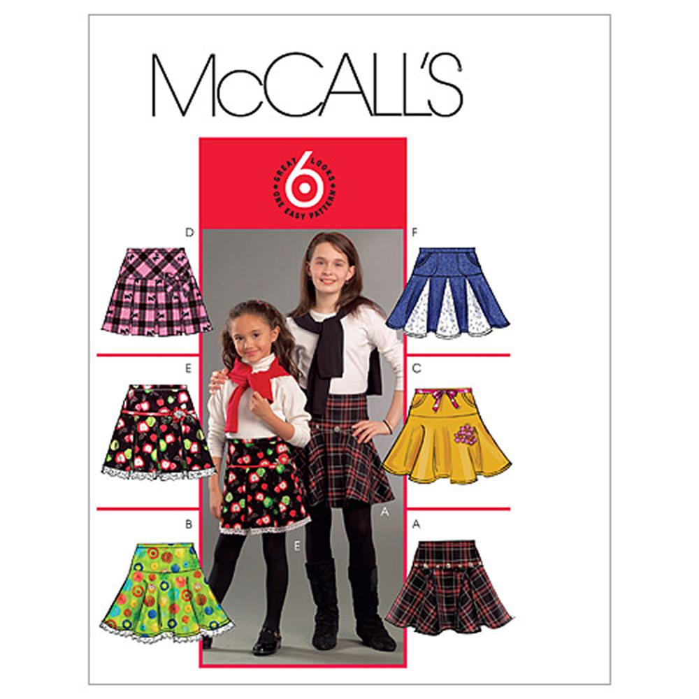 McCall's Children's/Girls' Skirts Pattern M5696 Size CCE