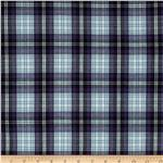 Stretch Yarn Dyed Shirting Plaid Purple/Black