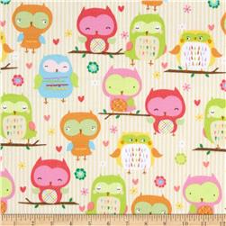 Riley Blake Owl & Co. Flannel Owl Main Cream