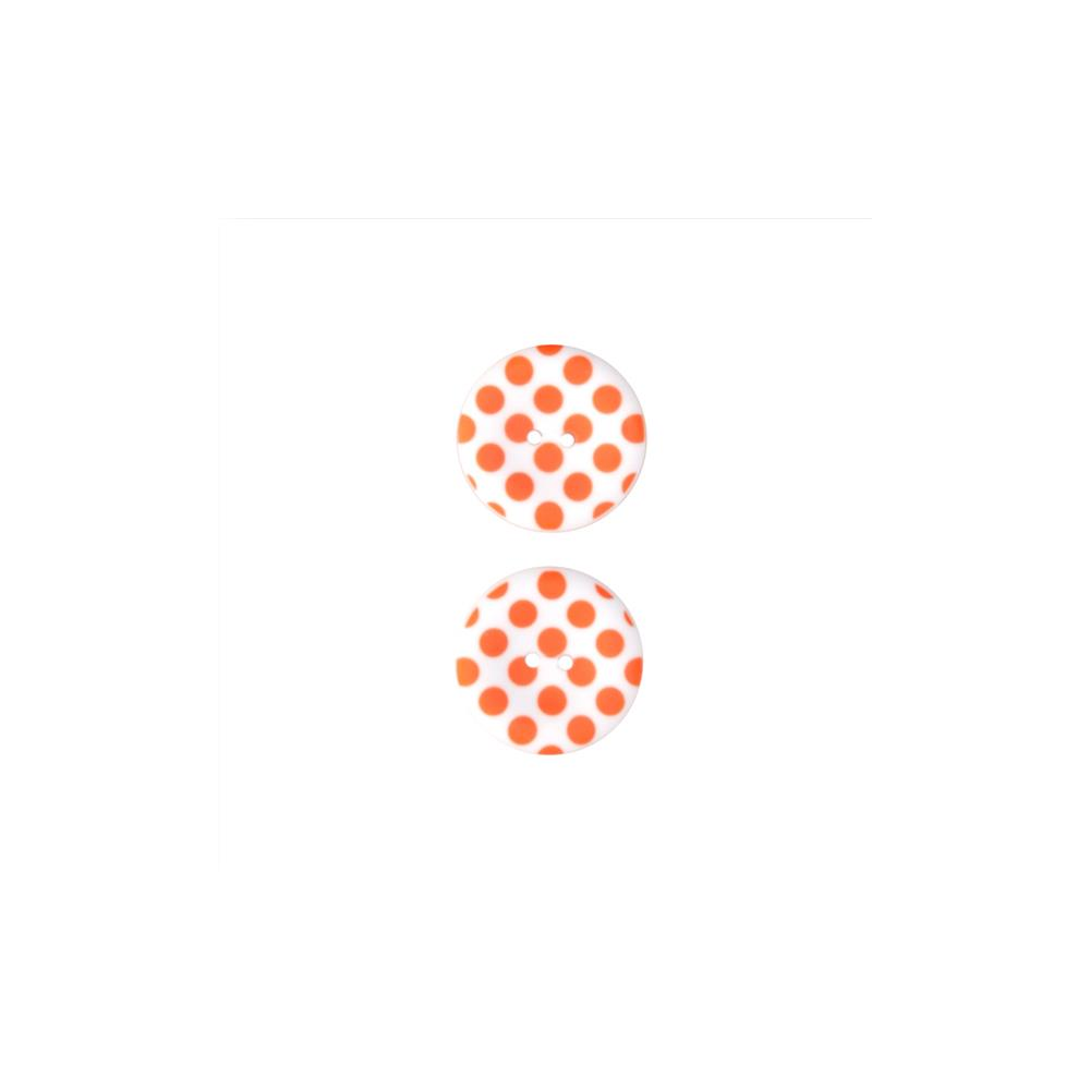 Riley Blake Sew Together 1 1/2 Matte Button Dots Orange