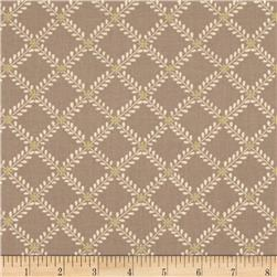 Moda Windermere Prints Fern Lattice Cobblestone