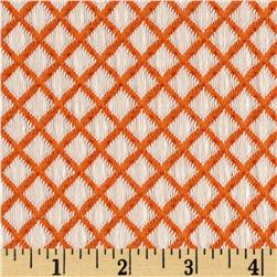Harmony Jacquard Diamond Knit Orange/White