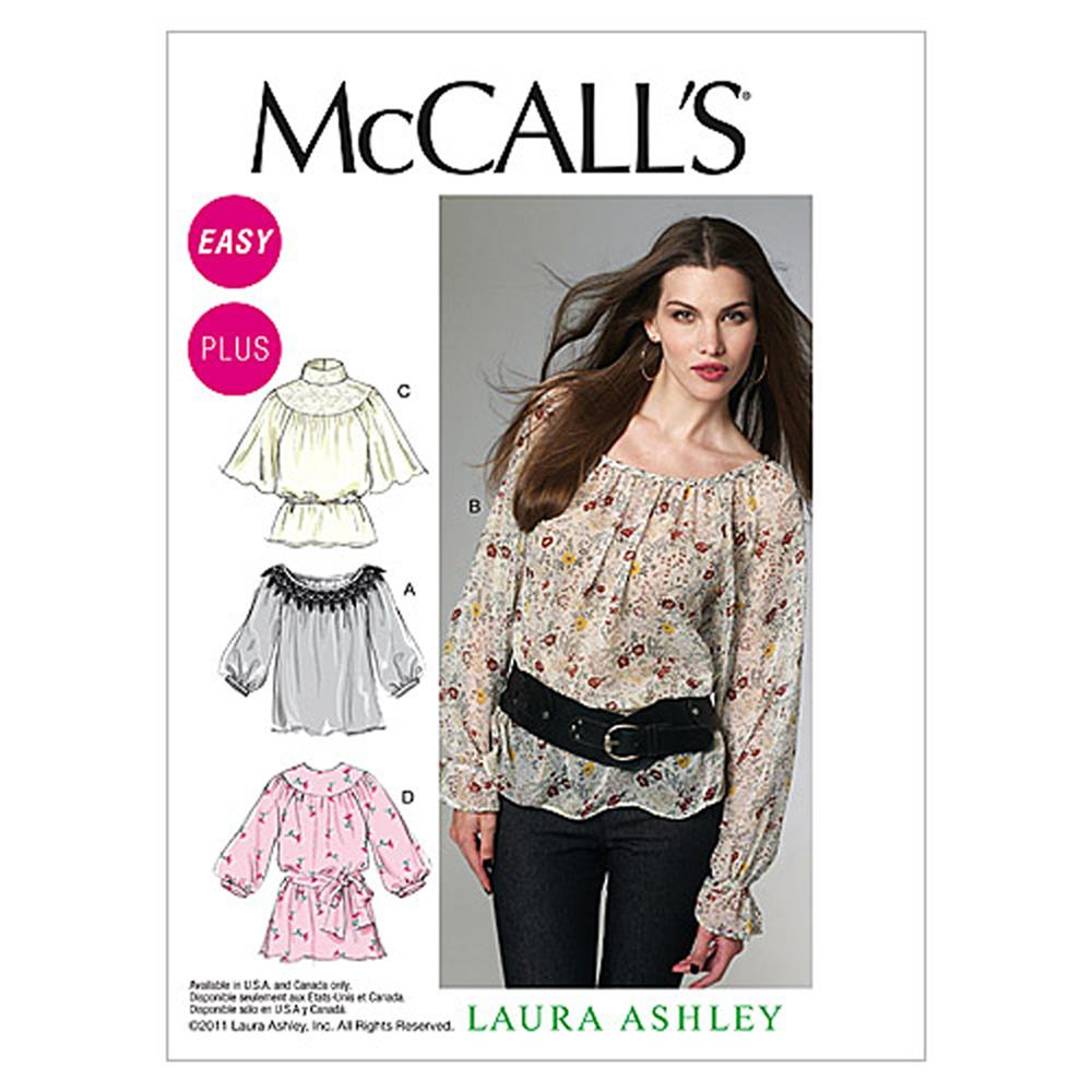 McCall's Misses'/Women's Tops and Belt Pattern M6437 Size B50