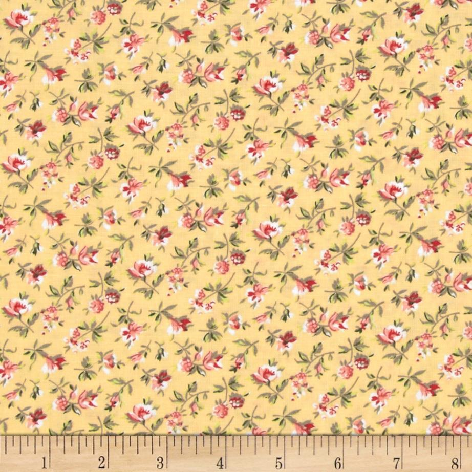 Subtle Sunset Small Floral Yellow