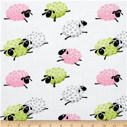 Susybee Lal The Lamb Leaping Sheep Pink