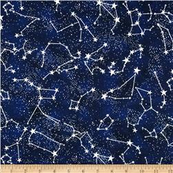 Timeless Treasures Glow In The Dark Constellations Midnight
