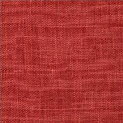 European 100% Washed Linen Ruby