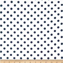 Textured Crepe Navy Dot