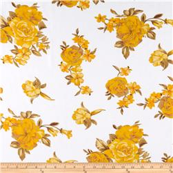 Angeline Chiffon Floral Gold/Yellow