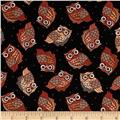 Night Owls Small Allover Owls Black
