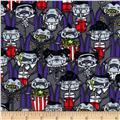 Timeless Treasures Halloween Minis Vampires at Movies Grey