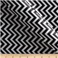 Charmeuse Satin Chevron Black/Snow