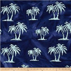 Indian Batik Palm Trees Navy