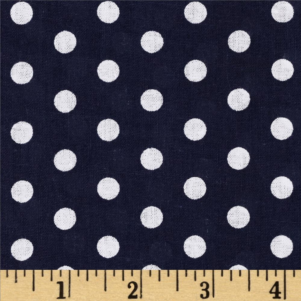 Forever Small Polka Dot Navy