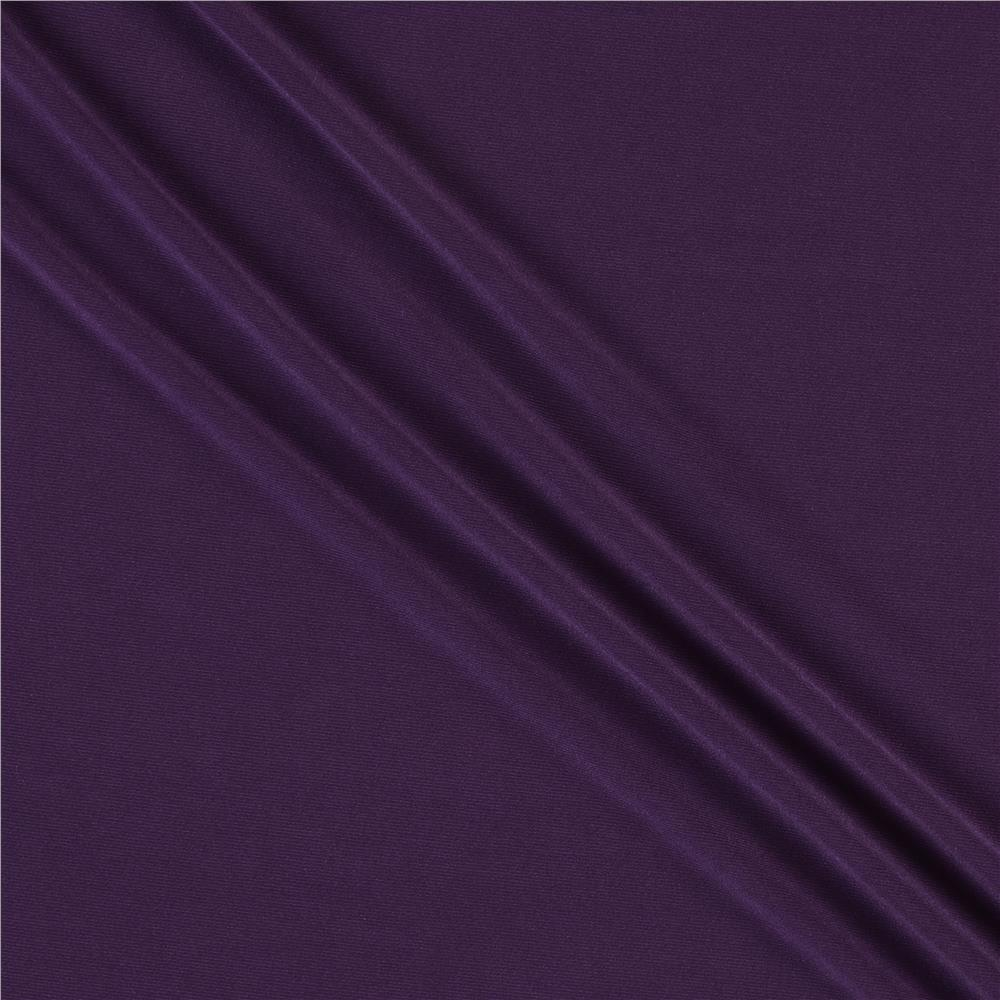 Telio Brazil Stretch ITY Jersey Knit Plum Fabric