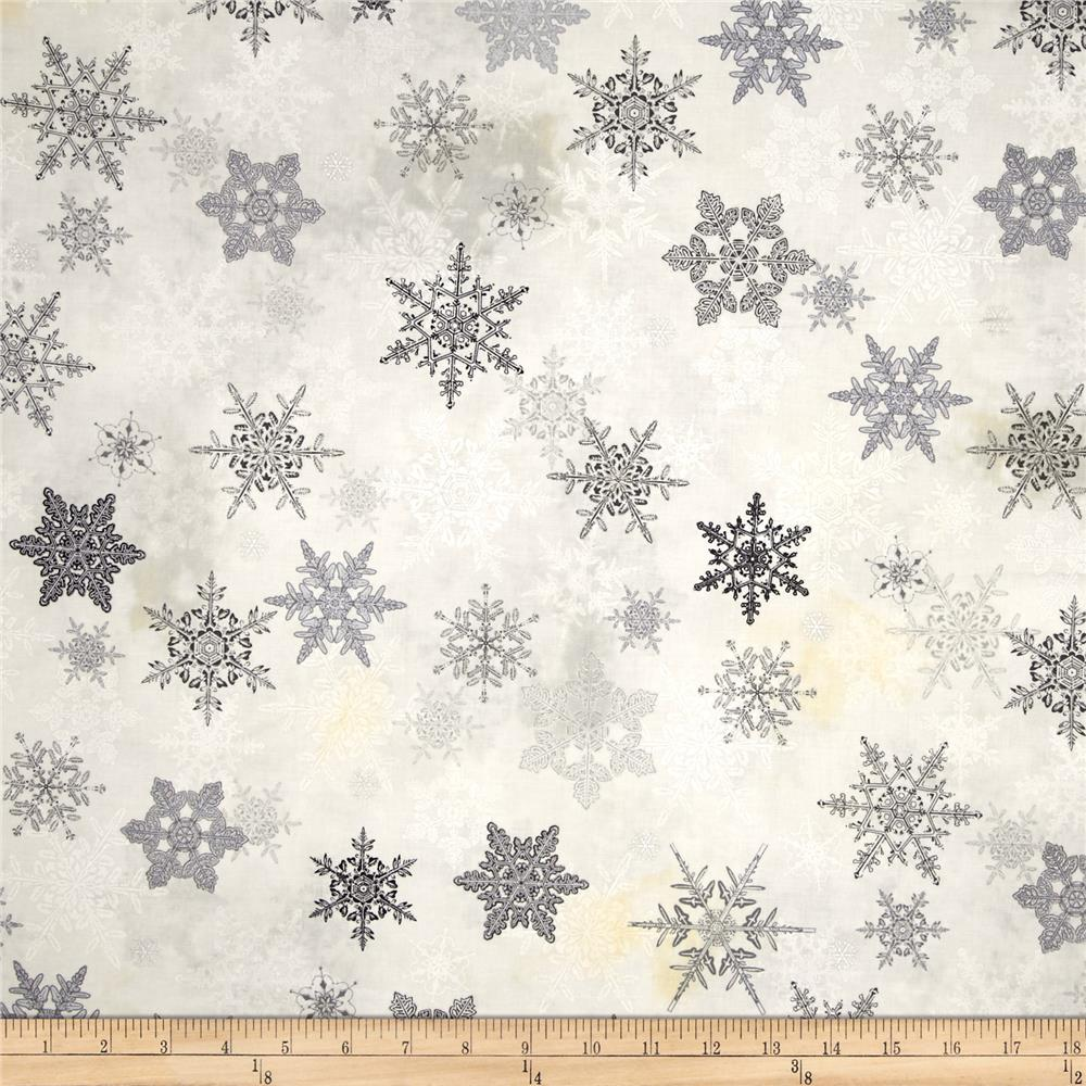 Winter Celebration Large Snowflake Grey