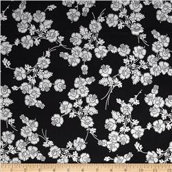 Mary May Metallic Foil Floral Onyx/Silver