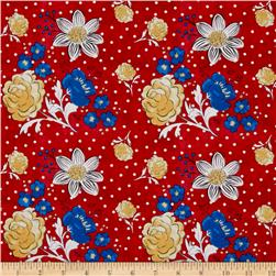 French Hen Dotty Fleur Red