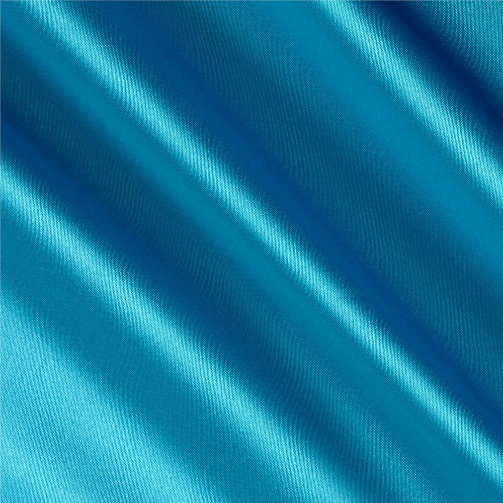 Silky Satin Charmeuse Solid Sea Lush Fabric By The Yard