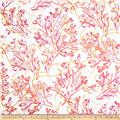 Cotton Voile Outlines Pink/White