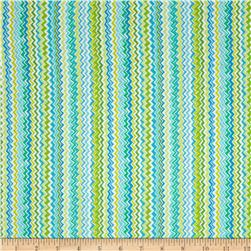 Kanvas Zippy Stripe Blue/Green