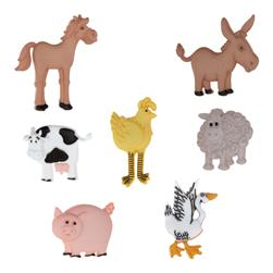 Dress It Up Embellishment Buttons Funny Farm