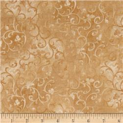 Essentials Scroll Light Tan Fabric