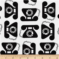 This and That Phones Retro Black Fabric