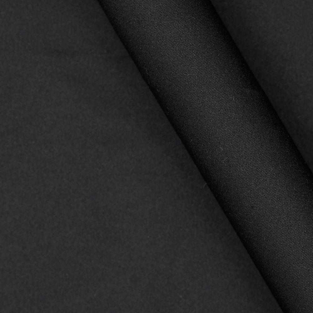 Polyester Micro Brush Twill Black