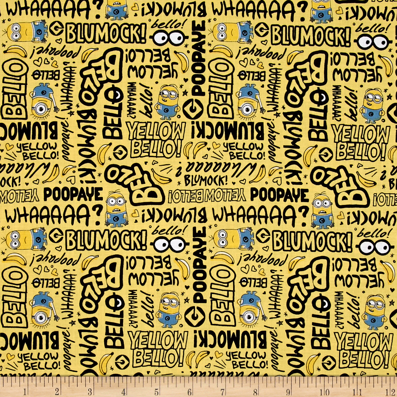 Millions Of Minions Minion Lingo Banana Fabric 0491933