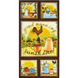 "Good Morning Sunshine 24"" Panel Brown"