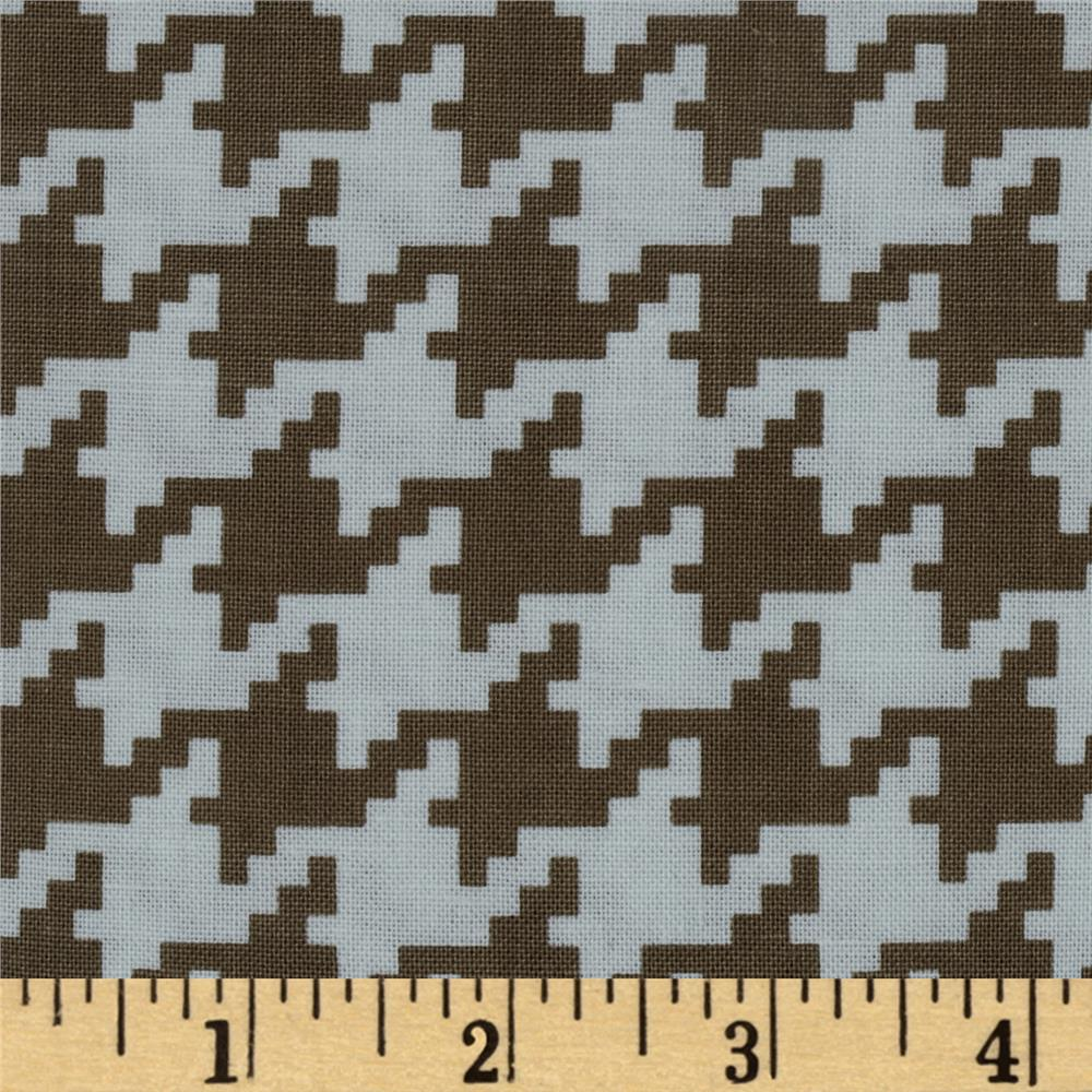 Michael Miller Everyday Houndstooth Dirt