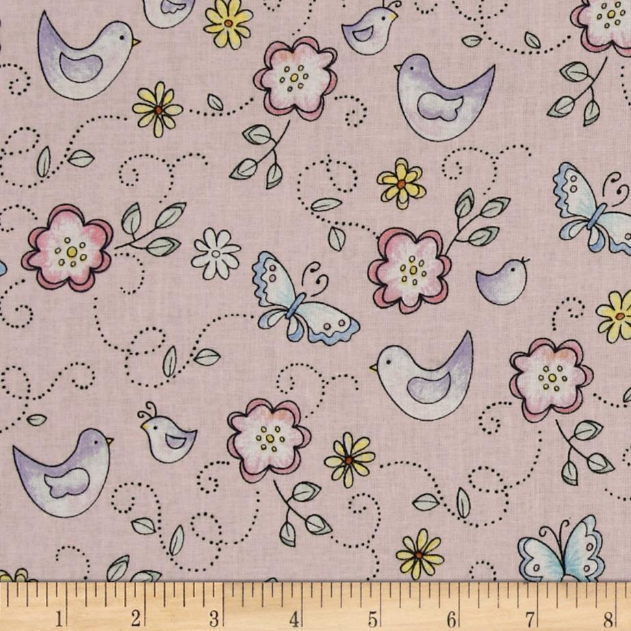Birds & Butterflies Pink/Multi