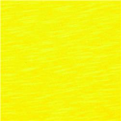 Jersey Cotton Slub Knit Lemon