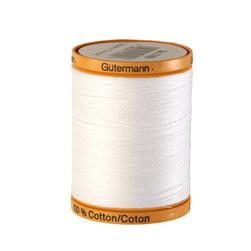 Gutermann Natural Cotton Thread 800m/875yds White