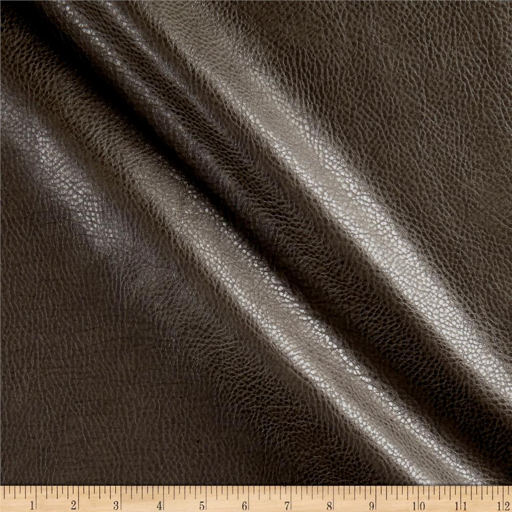 Rodeo Faux Leather Charcoal Discount Designer Fabric