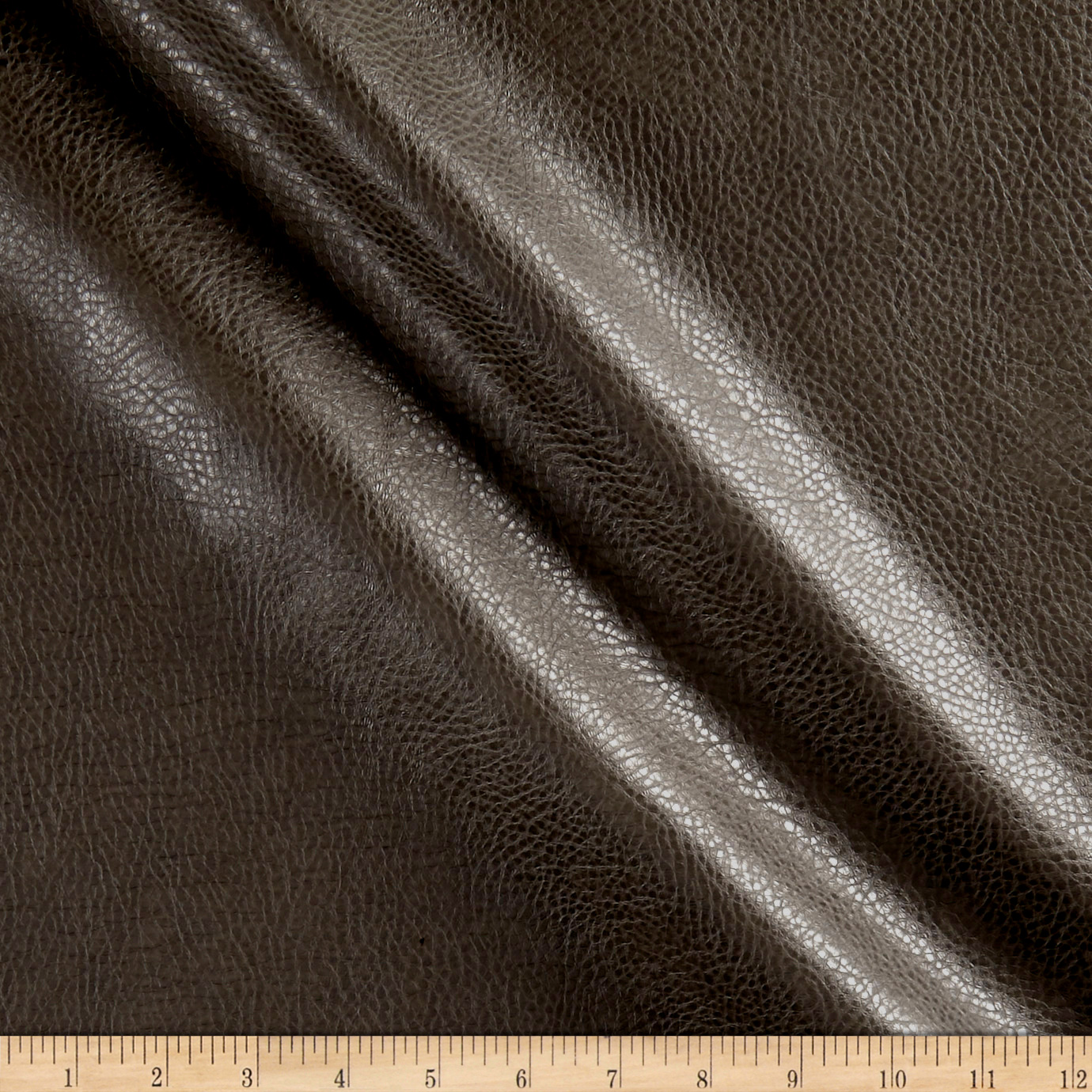 Rodeo Faux Leather Charcoal Fabric