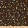 Cottage Basics Small Floral Brown