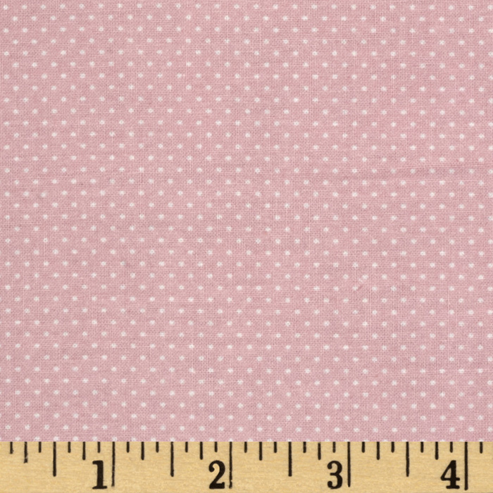 Pin Dot Carnation Pink Fabric