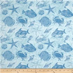 Seaside Wonders Toile Blue